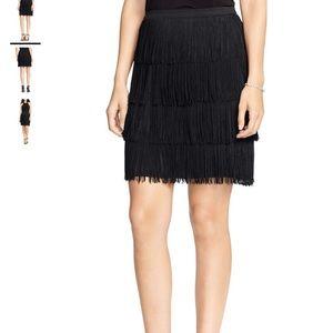Ralph Lauren Plus Flirty Tiered Fringe Skirt- New